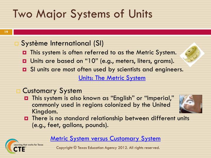 Two Major Systems of Units