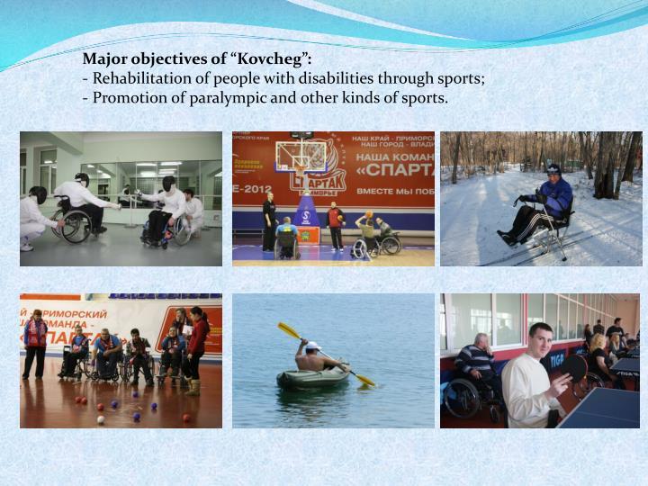 """Major objectives of """"Kovcheg"""""""