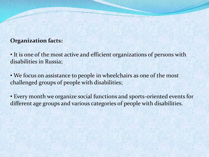 Far eastern inter regional organization of persons with disabilities kovcheg the a rch