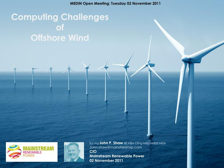 computing challenges of offshore wind n.