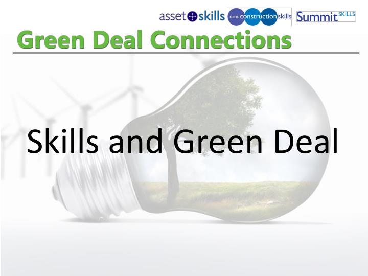 Skills and Green Deal