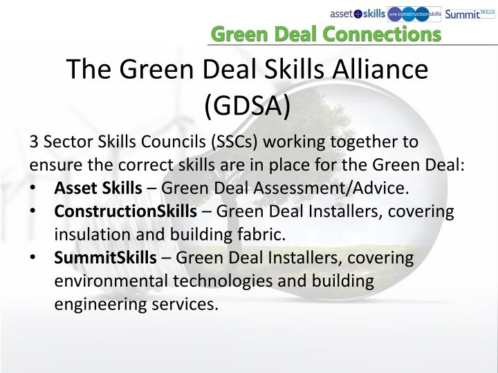 The Green Deal Skills Alliance (GDSA)