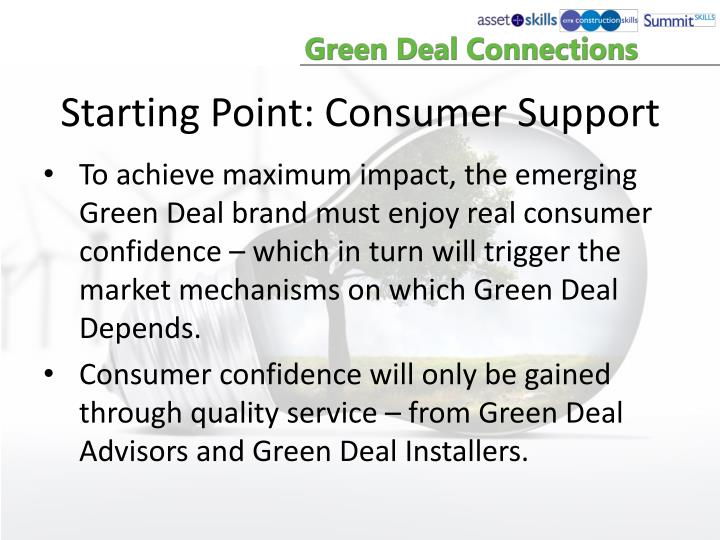 Starting Point: Consumer Support