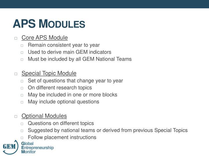 Core APS Module