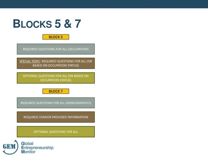 Blocks 5 & 7