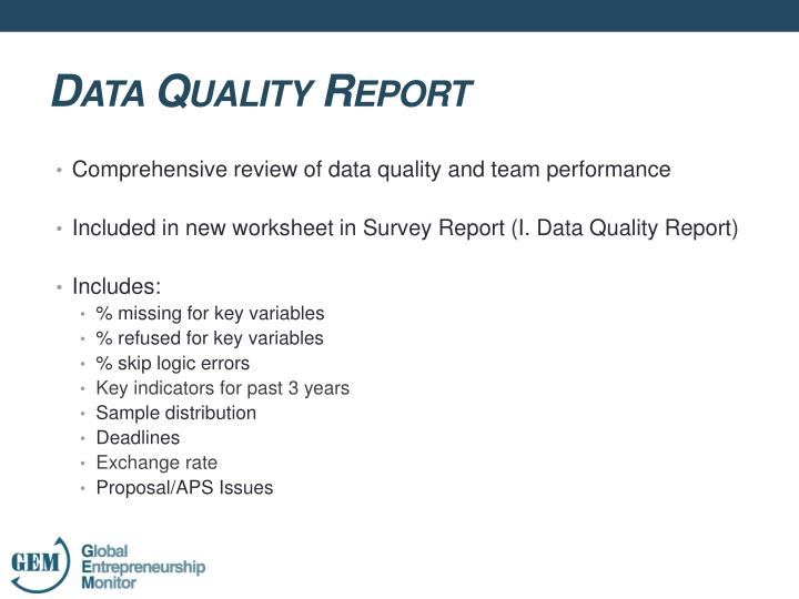 Comprehensive review of data quality and team performance