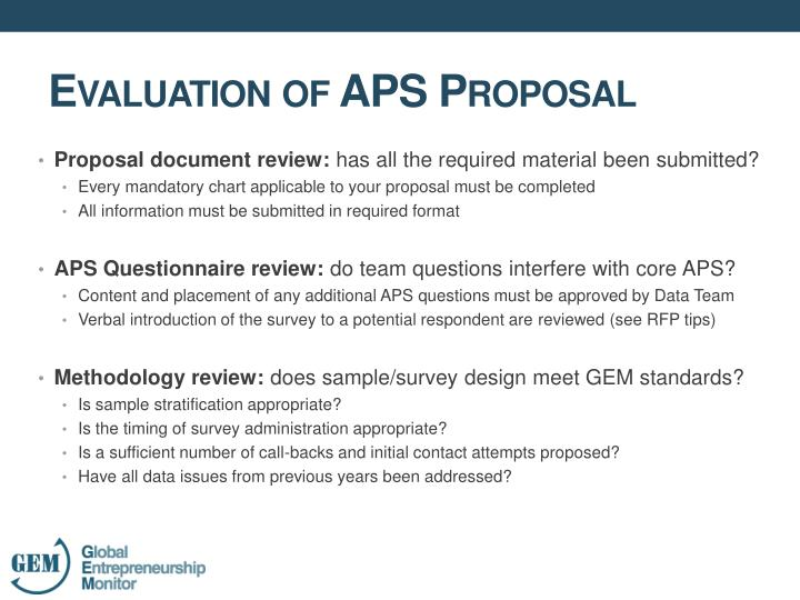 Proposal document review:
