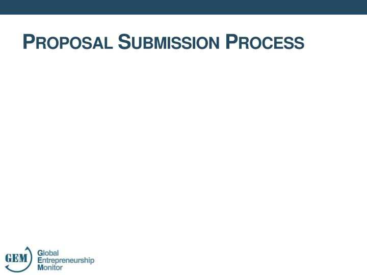 Proposal Submission Process
