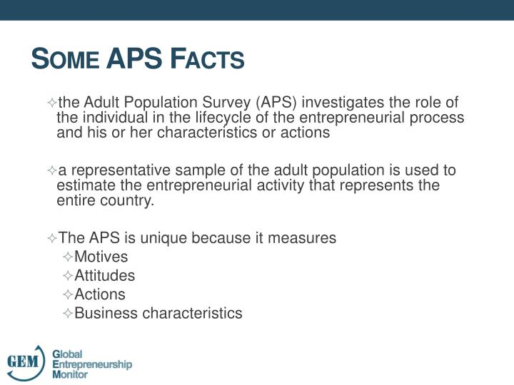 Some aps facts