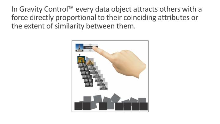In Gravity Control™ every data object attracts