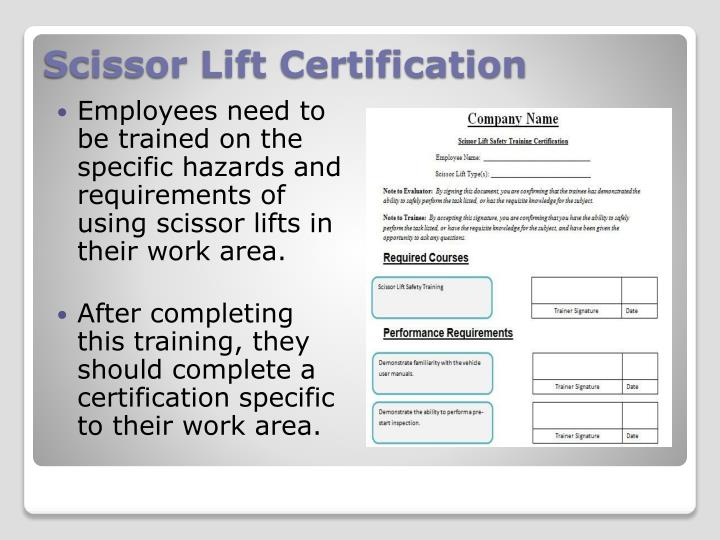 scissor lift certification card template bcxfour