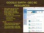 google earth geo bc resources