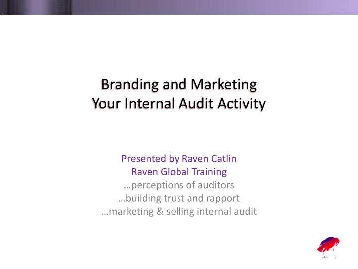 branding and marketing your internal audit activity n.