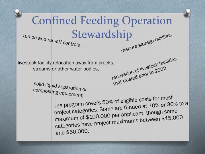 Confined Feeding Operation Stewardship