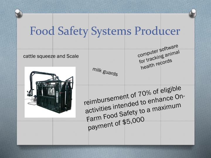 Food Safety Systems Producer