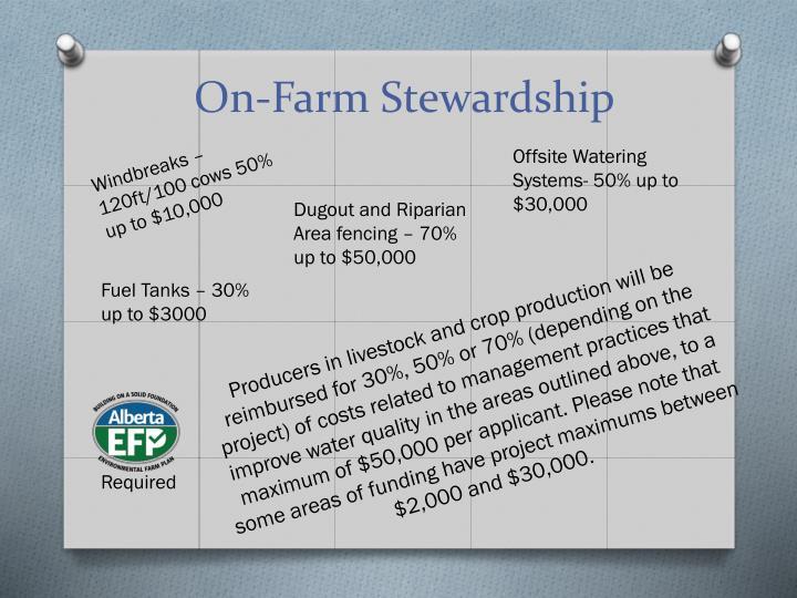 On-Farm Stewardship