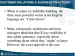 customer relations business practices23
