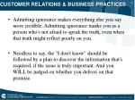 customer relations business practices24