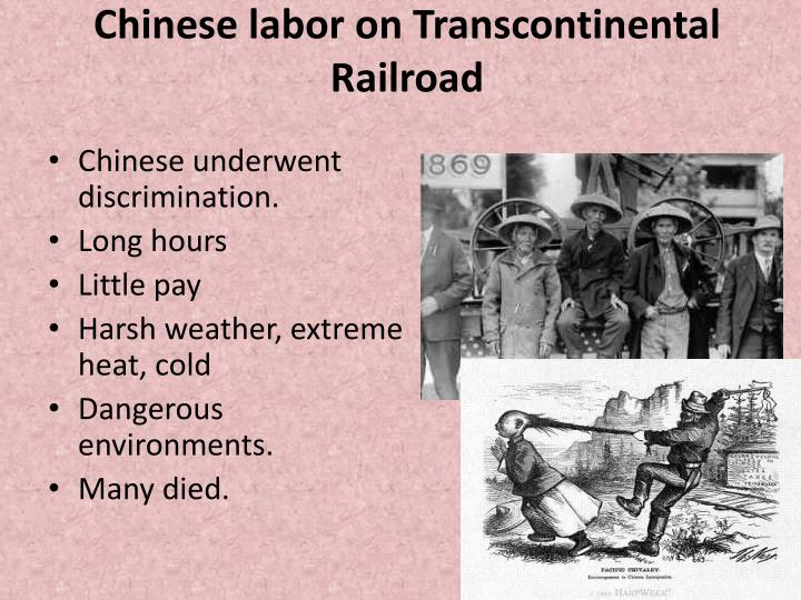 Chinese labor on Transcontinental Railroad