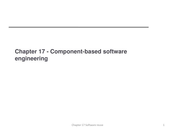 chapter 17 component based software engineering n.
