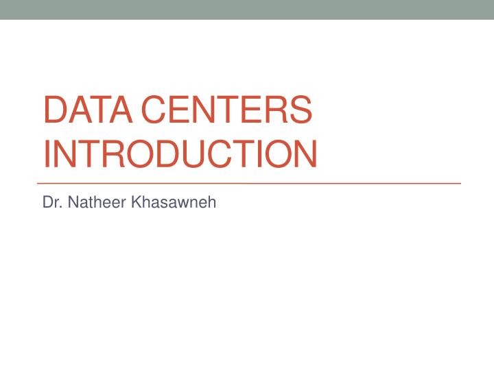 data centers introduction n.