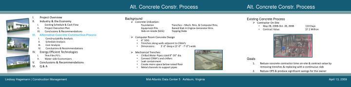 Alt. Concrete Constr. Process