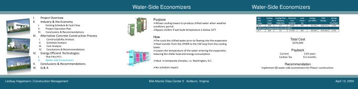 Water-Side Economizers