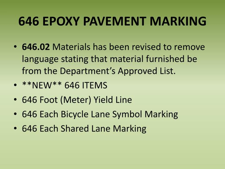 646 EPOXY PAVEMENT