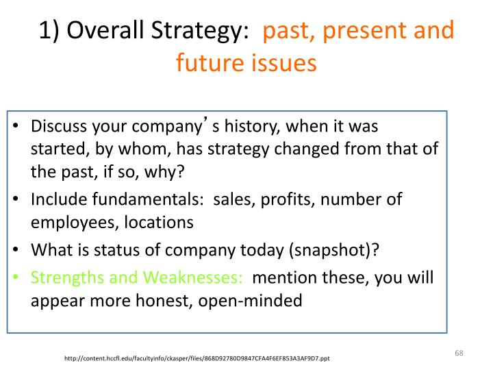 1) Overall Strategy: