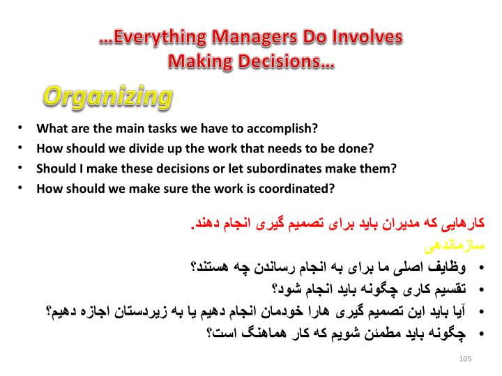 …Everything Managers Do Involves