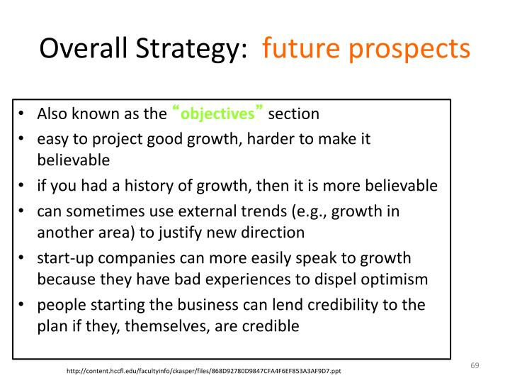 Overall Strategy: