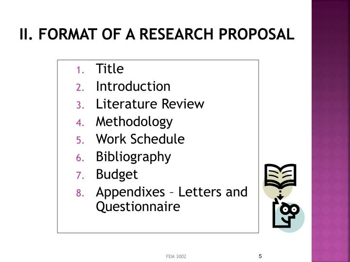 format of a research proposal