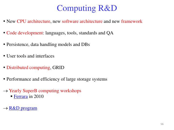 Computing R&D