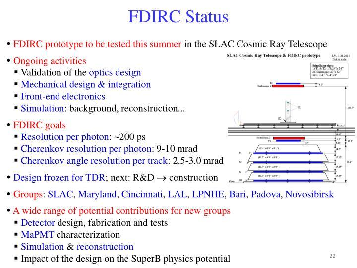 FDIRC Status