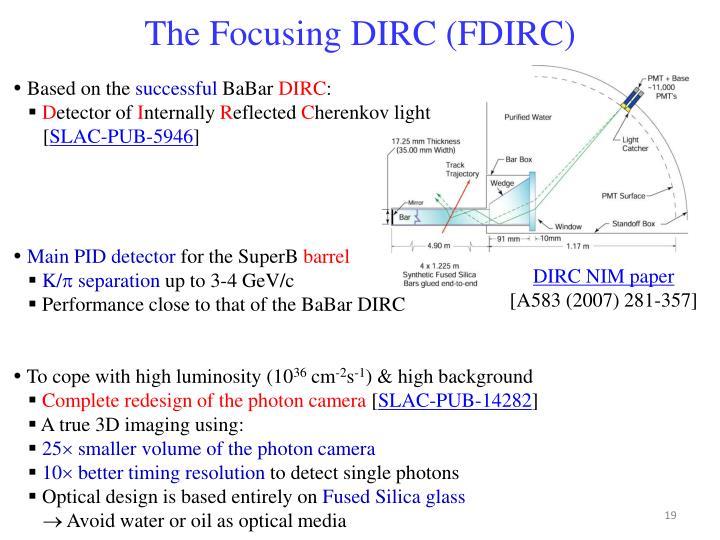 The Focusing DIRC (FDIRC)