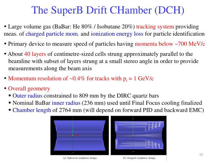 The SuperB Drift CHamber (DCH)