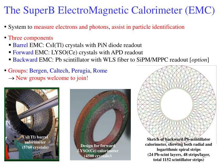 The SuperB ElectroMagnetic Calorimeter (EMC)