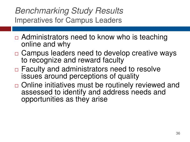 Benchmarking Study Results
