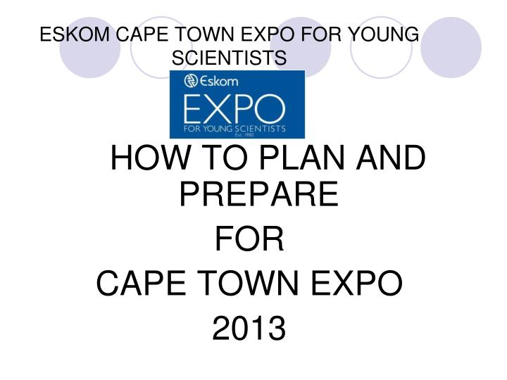 eskom cape town expo for young scientists n.