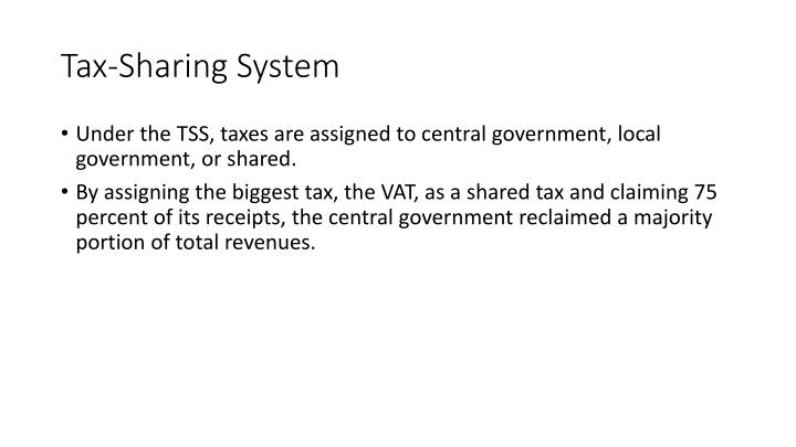 Tax-Sharing System