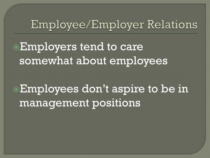 Employee employer relations