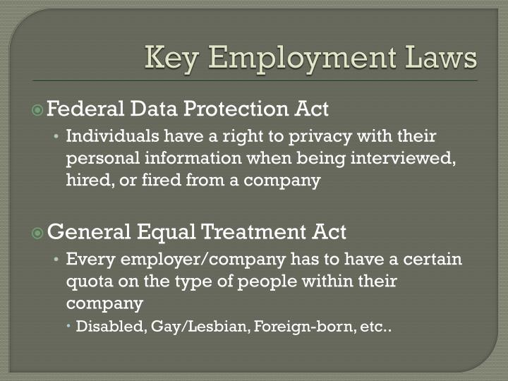 Key Employment Laws