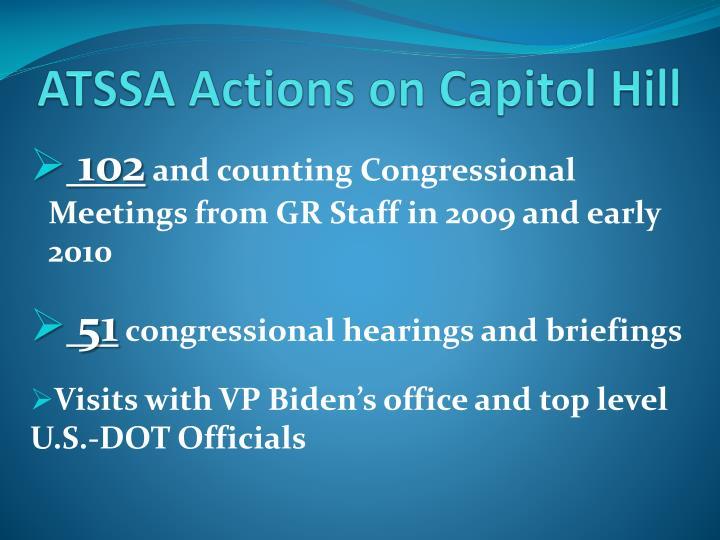 ATSSA Actions on Capitol Hill