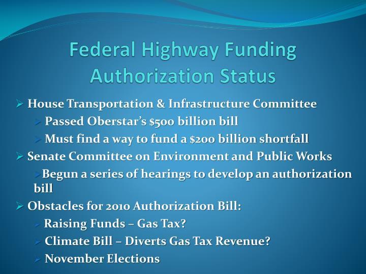 Federal Highway Funding