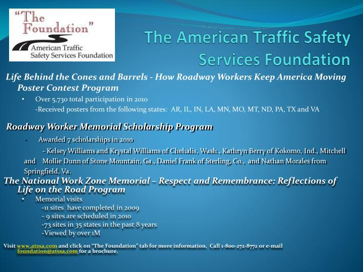 The American Traffic Safety Services Foundation