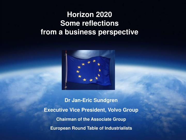 horizon 2020 some reflections from a business perspective n.