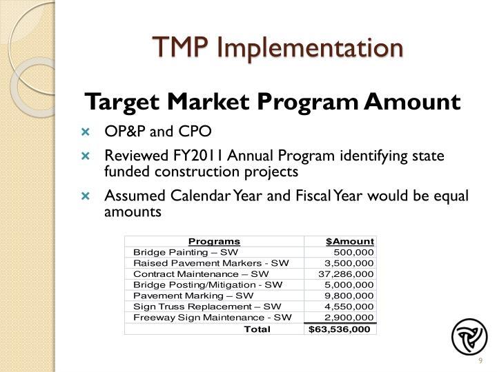 TMP Implementation