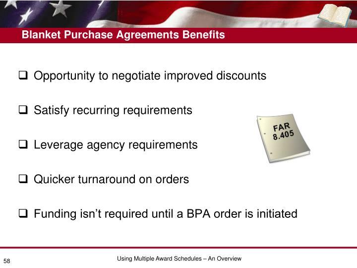 Blanket Purchase Agreements Benefits