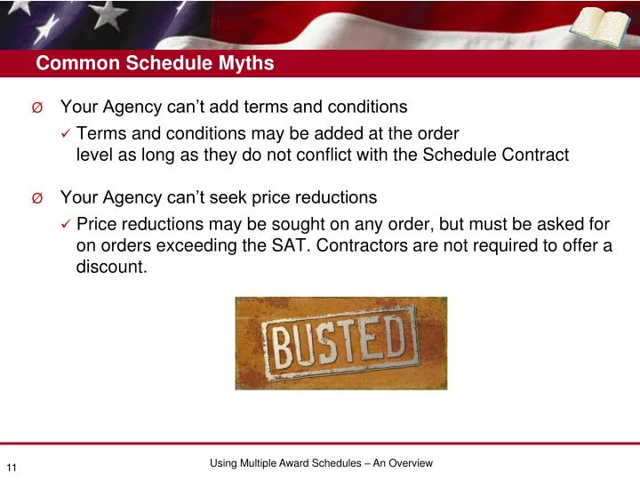 Common Schedule Myths