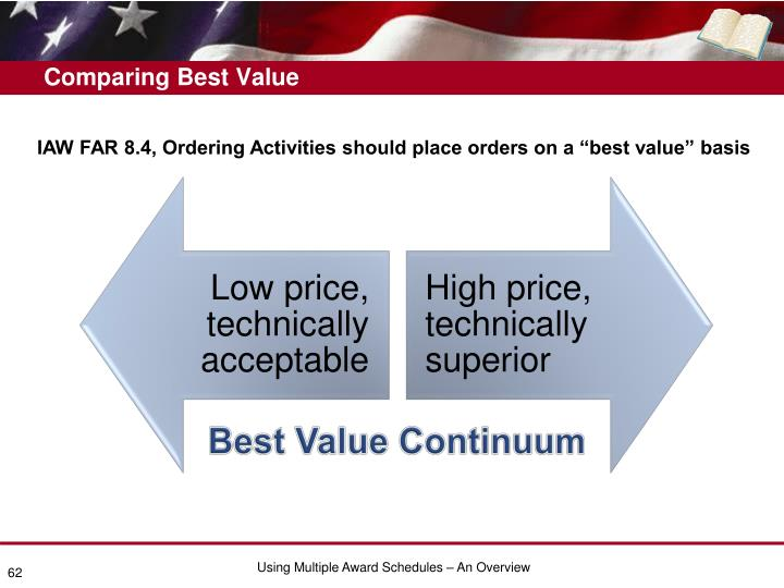 Comparing Best Value